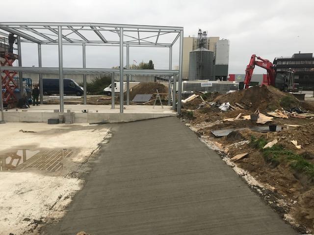 gepolierde beton terras
