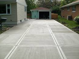 Gepolierde beton oprit